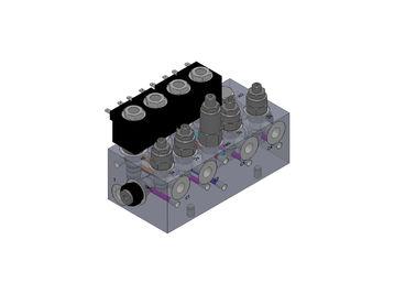 Πολλαπλοί φραγμοί βαλβίδων αργιλίου υδραυλικοί για Forklift το σύστημα φορτηγών